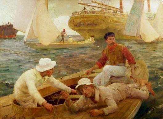 'The Run Home' Henry Scott Tuke 1902 {{PD-Art}}