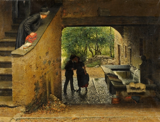 'Caught' by Luigi Monteverde 1888 {{PD}}