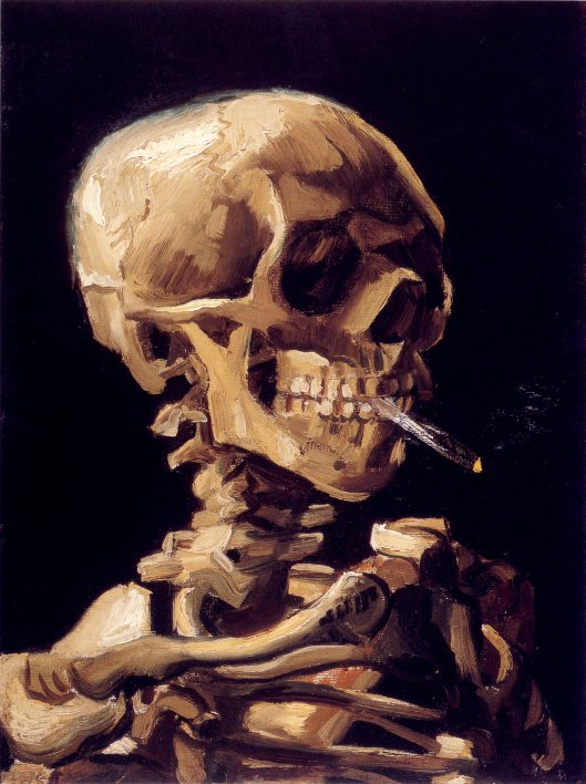'Skull with a Burning Cigarette' Vincent Van Gogh 1885-1886 {{PD}}