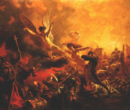 'The Triumph of the Genius of Destruction' Mihály Zichy 1878 {{PD}}