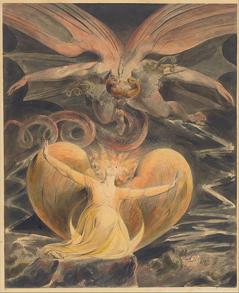 'The Great Red Dragon and the Woman Clothed With the Sun' William Blake {{PD}}