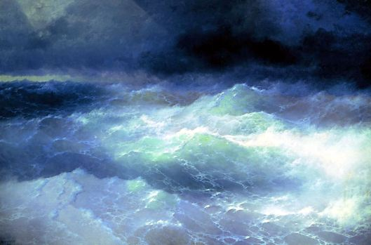 'Between the Waves' Aivazovsky 1898 {{PD}}