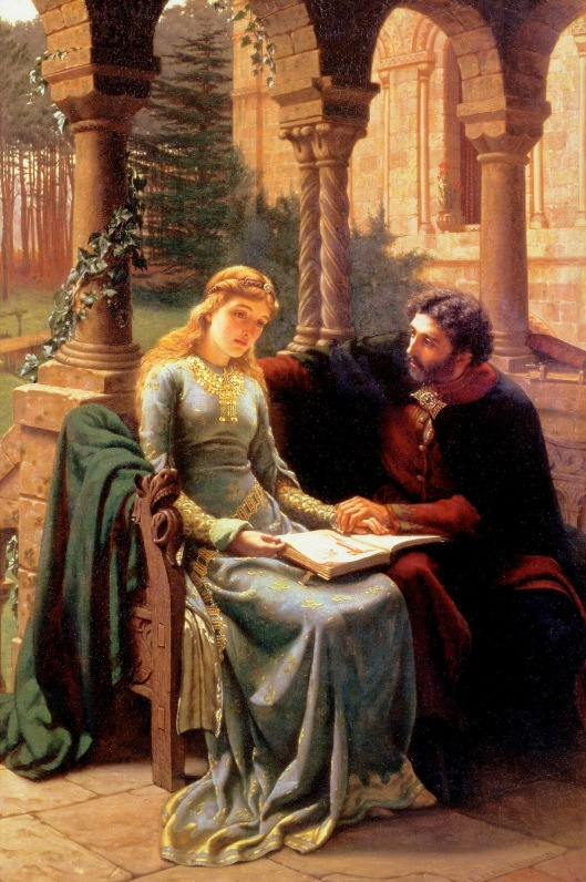 These two certainly did not follow the rules. 'Abelard and his Pupil Heloise' EB Leighton 1882 {{PD}}