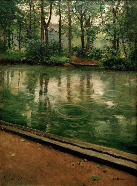 'The Yerres, Effect of Rain' Gustave Caillebotte 1875 {{PD}}