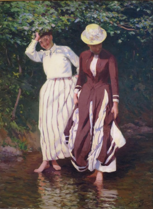 'Two Ladies Testing the Waters' Jacob Wagner 1891 {{PD}}