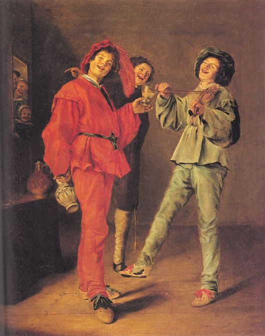 Obviously, this get-together didn't start during a Void--unless of course they thought it wouldn't go well. 'Merry Trio' Judith Leyster c1630 {{PD}}