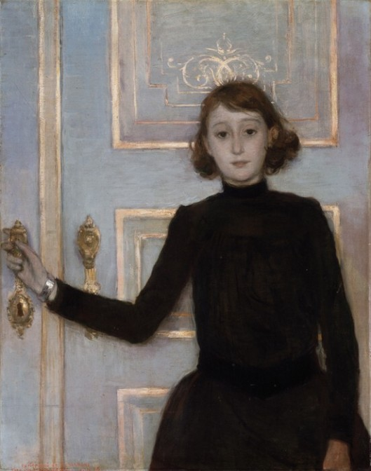 Portrait of Marguerite van Mons by T Van Rysselberghe {{PD}}