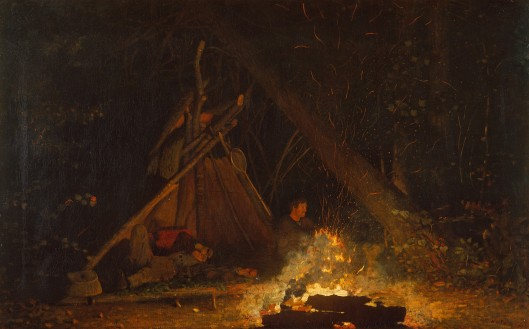 'Camp Fire' by Winslow Homer 1880 {{PD}}