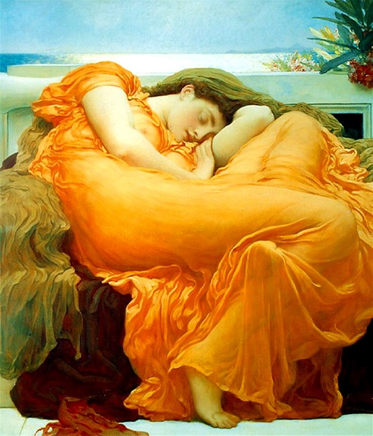 'Flaming June' by Frederic Leighton 1895 {{PD}}