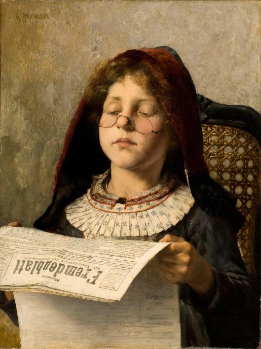 'Girl Reading' Georgios Jakobides c1882 {{PD}}