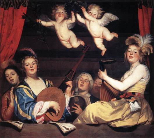'Concert on a Balcony' Gerard van Honthorst 1624 {{PD}}