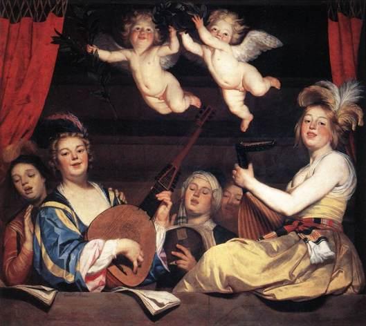 'Concert on a Balcony' Gerard van Honthorst 1624 {{PD}}