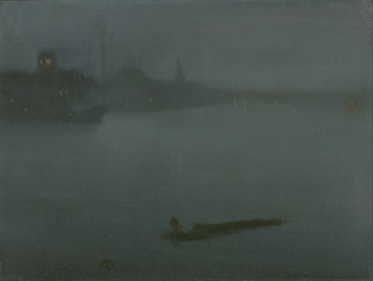 'Nocturne in Blue and Silver' James McNeill Whistler c1870s {{PD}}