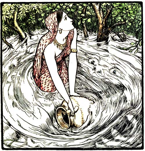 """Illustration by John D Batten for """"Indian Fairy Tales"""" edited by Joseph Jacobs, 1892"""