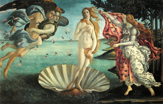'The Birth of Venus' Botticelli late 15th century {{PD}}
