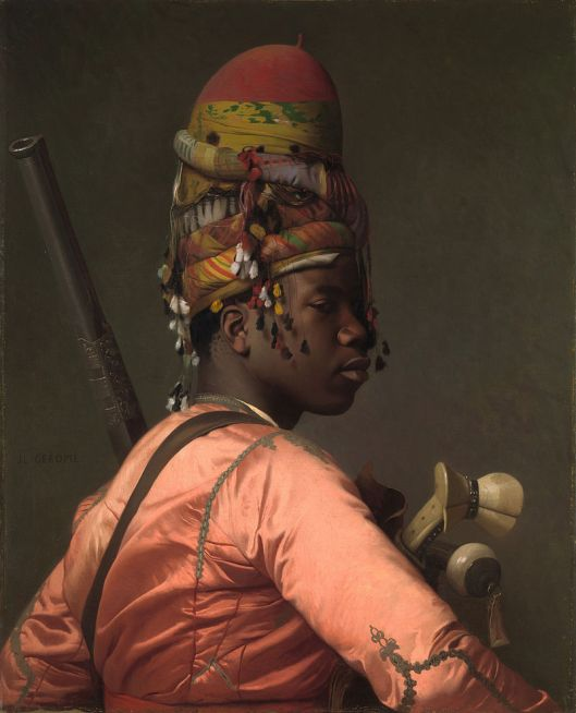 Portrait of a Bashi-Bazouk, a mercenary of the Ottoman Empire by Jean-Léon Gérôme 1869 {{PD}}