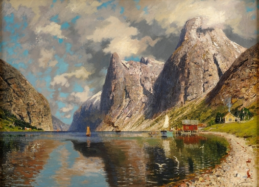 'Summer in the Fjord' Adelsteen Normann before 1918 {{PD}}