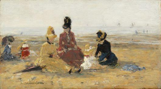 'On the Beach, Trouville' Eugène Boudin 1887 {{PD}}