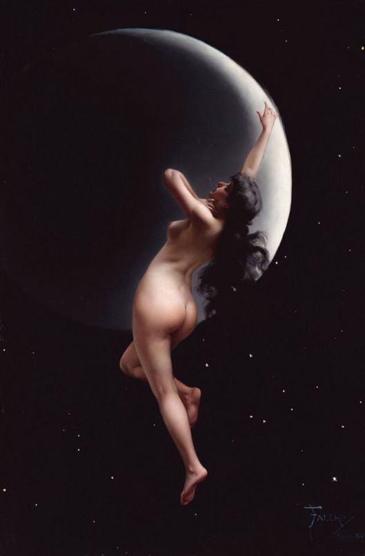 'Moon Nymph' by Luis Ricardo Falero {{PD}}