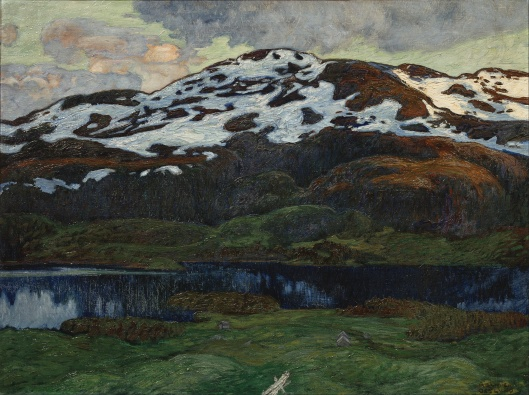 'A Summer Evening by Kallsjön' Helmer Osslund before 1938 {{PD}}