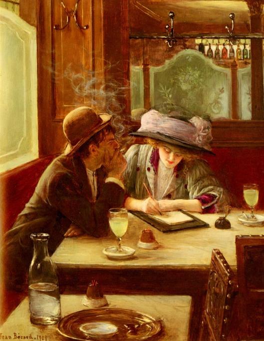 One way to be smokin' Jean Béraud 'La Lettre' 1908 {{PD}}