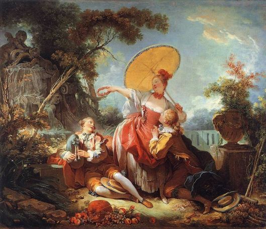 Show the world what you can do, Taurus! 'The Musical Contest' by Jean Honore Fragonard c1750 {{PD}}