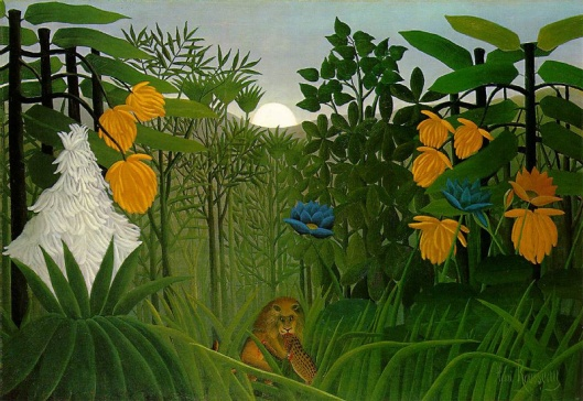 'The Repast of the Lion' by Henri-Julien-Félix Rousseau 1907 {{PD}}