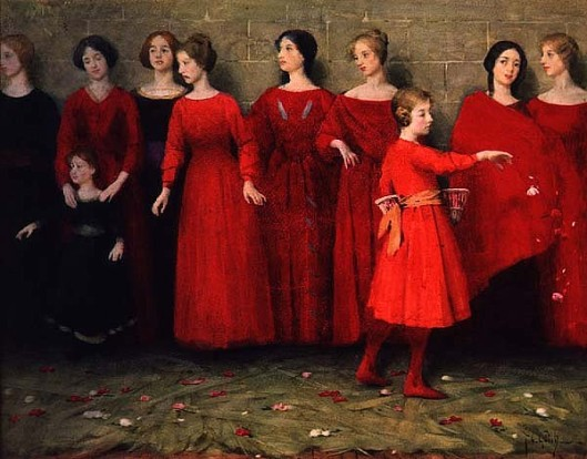 Get ready for a new You--'They Come' by Thomas Cooper Gotch pre-1931 {{PD}}