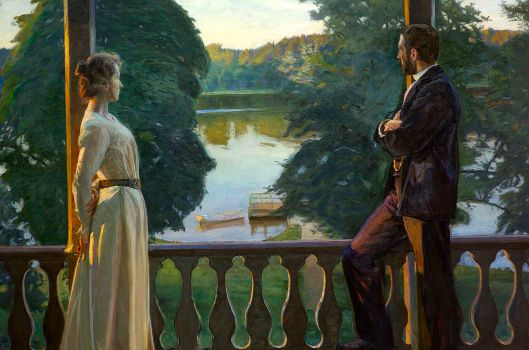 'Nordic Summer Evening' Richard Bergh {{PD}}