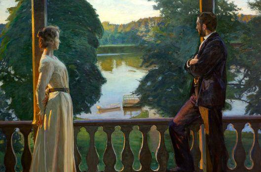 'Nordic Summer Evening' Richard Bergh {{PD}}