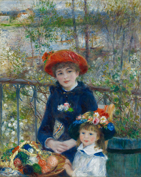 'Two Sisters on the Terrace' Auguste Renoir 1881 {{PD}}