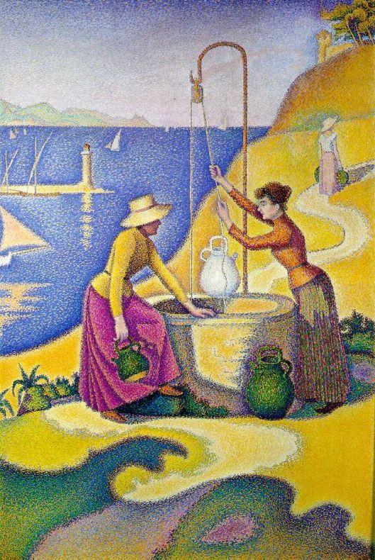 Paul Signac Femmes au puits 1892 {{PD}}