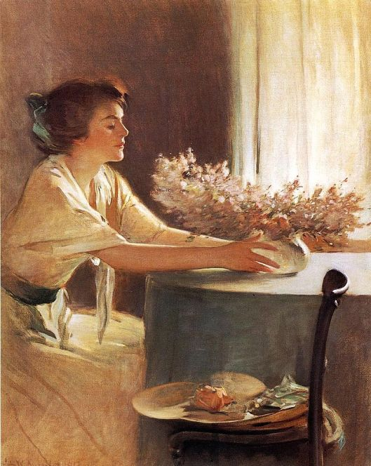 'A Meadow Flower' John White Alexander {{PD}}