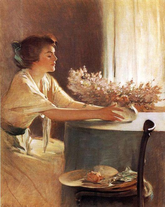 'A Meadow Flower' John White Alexander {{PD}}