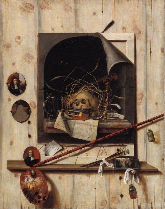 Cornelius Norbertus Gijsbrechts - Trompe l'oeil with Studio Wall and Vanitas Still Life