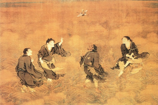Four Wizards and Longevity God, Shang Xi, Ming Dynasty, China, National Palace Museum, Taipei 15th century {{PD}}