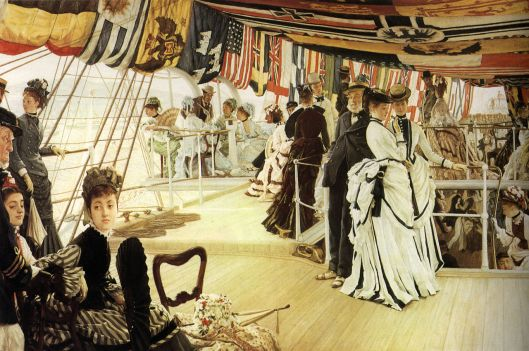James Tissot - 'Ball on Shipboard' 1873 {{PD}}