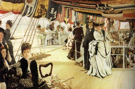 James Tissot - 'Ball on Shipboard' 1873 {{PD}}