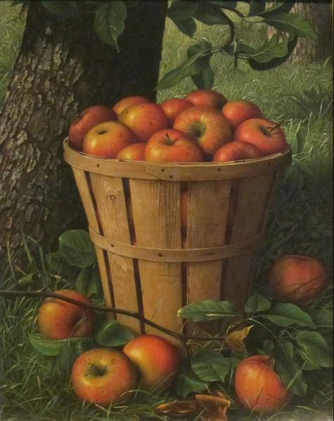 Basket of Apples, by Levi Wells Prentice, 1895 {{PD}}