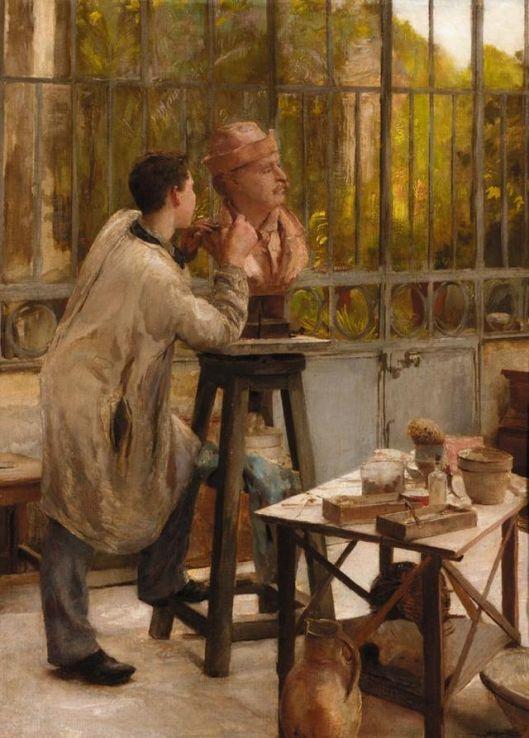 Edouard Dantan L'Atelier du Sculpteur {{PD}}