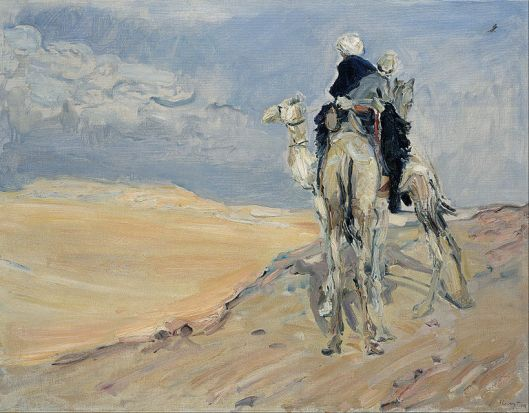 Max Slevogt - Sandstorm in the Libyan Desert 1918 {{PD}}