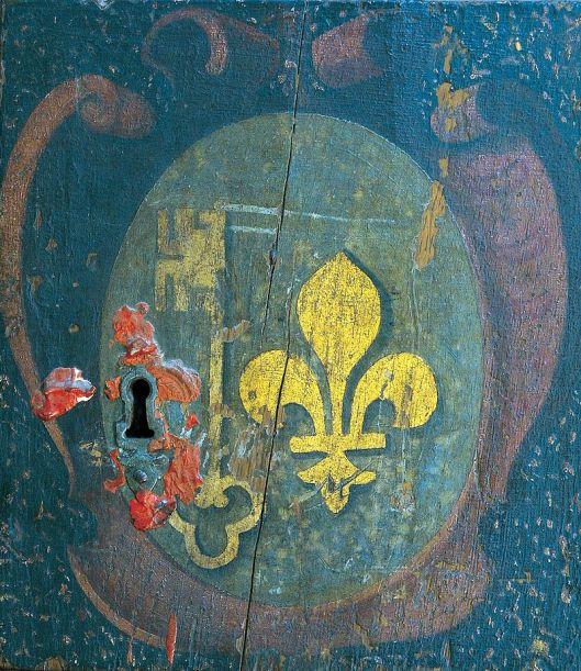 Blason de Mozac sur la châsse de saint Austremoine 16th century {{PD}}