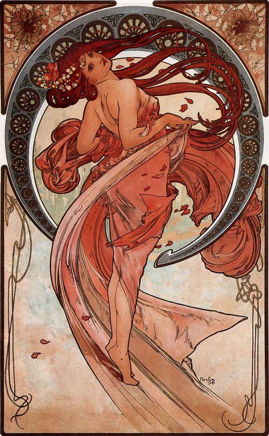 'Dance' Alfons Mucha 1898 {{PD}}