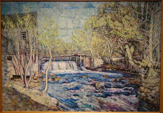 Something blocked could flow, or something free-flowing could dam-up--you need to be ready, Cancer. 'Bradberry's Mill Dam in Spring' by Edward Francis Rook c. 1910-1915 {{PD}}