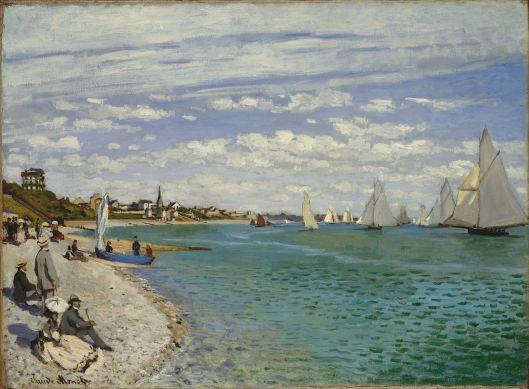 Claude Monet, 1867, Regatta at Sainte-Adresse {{PD}}