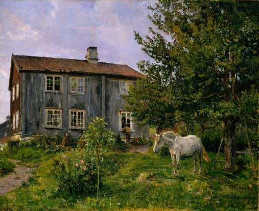 Gerhard Munthe - At the Farm, Ulvin {{PD}}