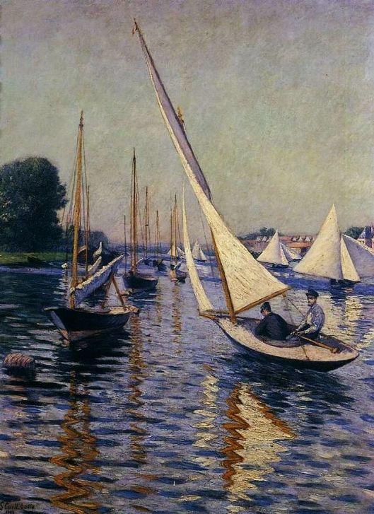Gustave Caillebotte - Régates à Argenteuil 1893 {{PD}}