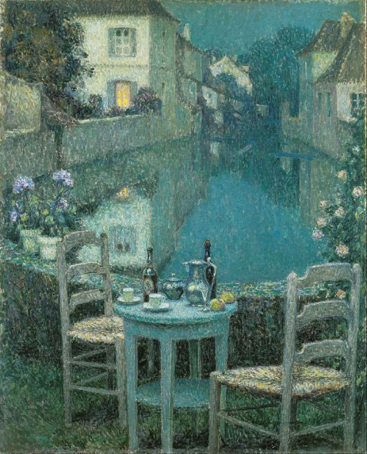 Henri Le Sidaner - Small Table in Evening Dusk 1921 {{PD}}