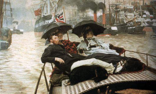 'The Thames' James Tissot 1876 {{PD}}