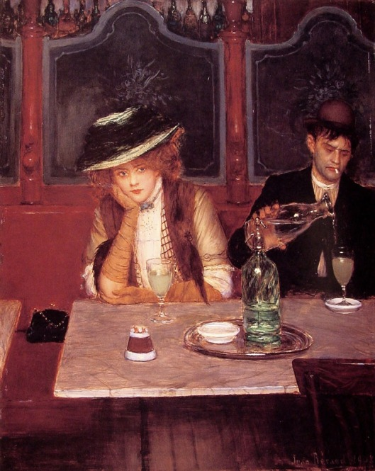 Weak sauce or not, we'll all get a taste. Jean Béraud's 'The Drinkers' 1908 {{PD}}